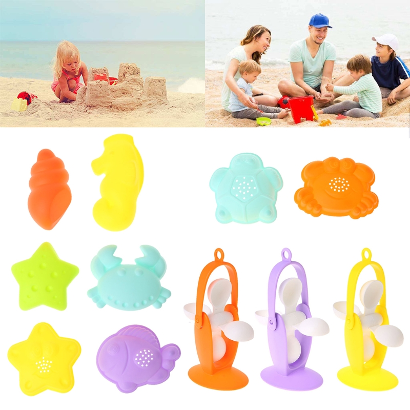 HBB Baby Sand Mold Toy Building Castle Clay Model Windmill Beach Toys For Kids Child Baby