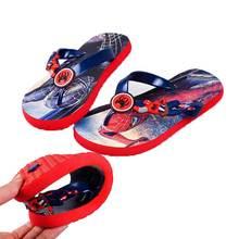 Летние детские тапочки; Домашние Нескользящие сандалии для мальчиков; мягкие и удобные пляжные сланцы с человеком-пауком для девочек;#10