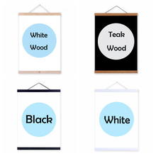 4 Color Canvas Painting Frame Poster Magnetic Wooden Hanger Wood Photo Craft Art