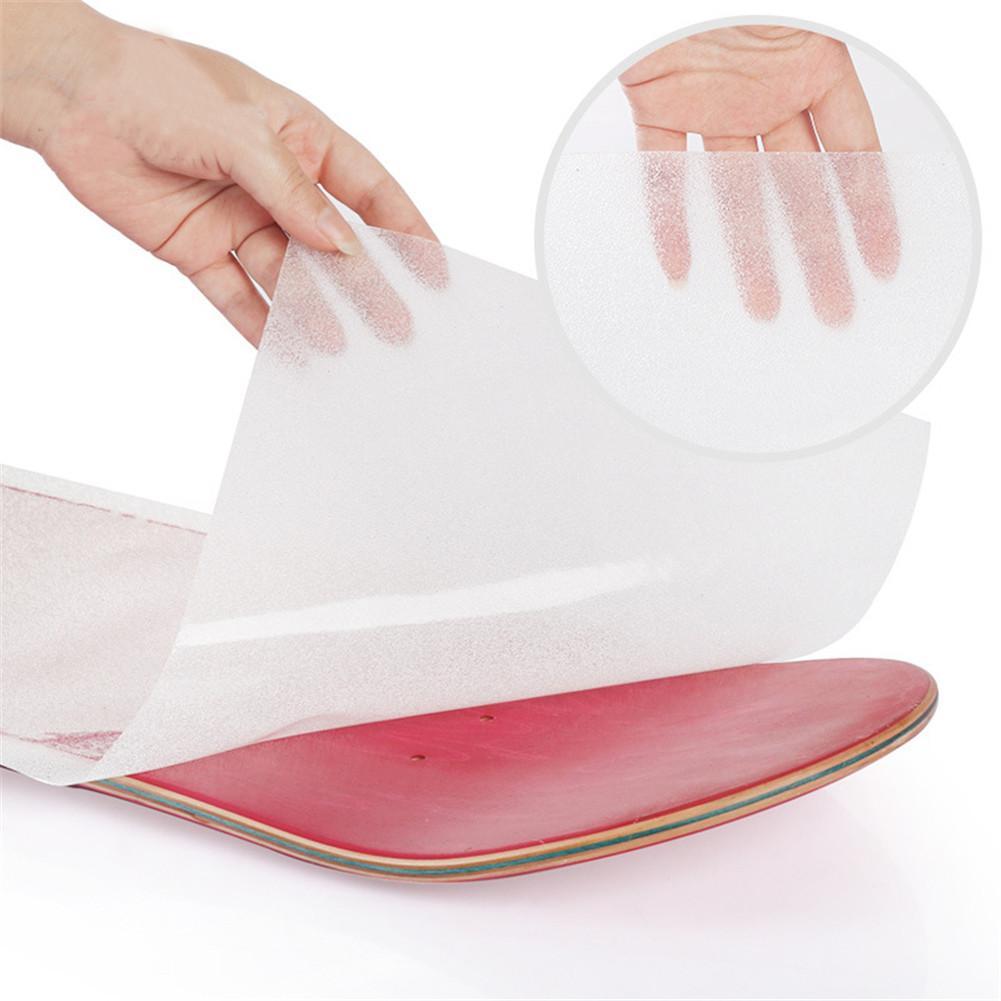 Longboard Sandpaper 1pc Pvc High Quality Skateboard Sand Paper Perforated Deck Grip Tape Skate Scooter Sticker Sandpaper