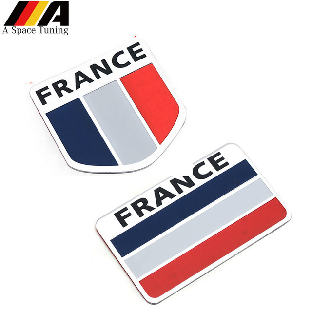 Car Styling French Flag Emblem Badge Sline Sport Car Sticker