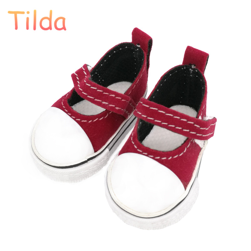 5cm Tilda Doll Shoes for Handmade Sewing Dolls,Lovely Mini Casual Dolls Toy Sneakers for BJD,Doll Slippers Toy Accessories uncle 1 3 1 4 1 6 doll accessories for bjd sd bjd eyelashes for doll 1 pair tx 03