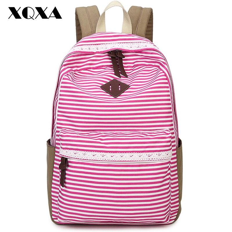 XQXA Rucksack Backpack School Bags for Teenagers Printing Women Backpacks Bolsas Mochila Masculina Canvas Backpack Female