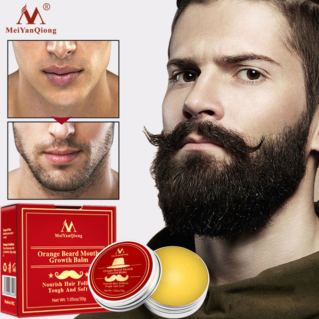 Men Natural Growth Beard Oil Organic Beard Wax Balm Avoid Beard Hair Loss Products Leave-In Conditioner For Groomed Growth