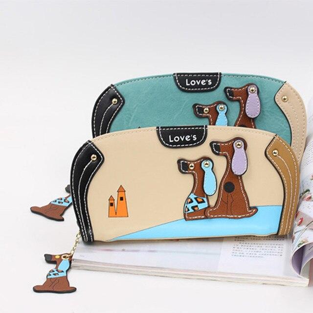 brixini.com - Luxury Dog Cartoon PU Leather Wallet