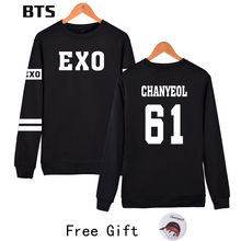 BTS Kpop EXO Korean Sweatshirt Women Harajuku Casual Tops Homme Chanyeol Exo Kokobop Fashion Tracksuit Loose Hoodie Sweatshirt