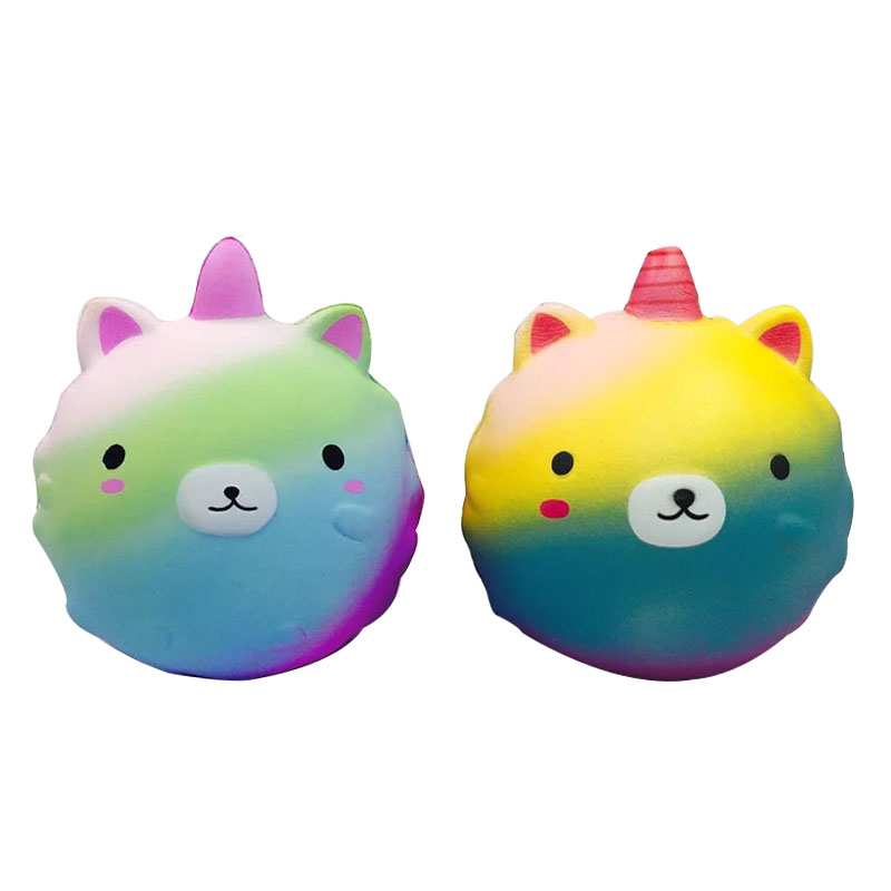 11cm Soft Cute Unicorn Slow Rising Squishy Toy Kawaii Healing Stress Reliever Simulation Scented Squeeze Toy Gifts