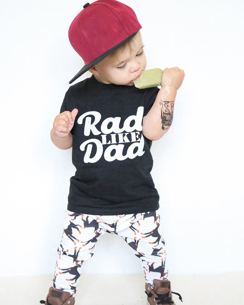 4b16ddf86 2017 Summer Toddler Boy Clothes Boutique Kids Clothing Tracksuits Girl Set  t-shirt+pant 2pcs infant costume Sportsuit Child A215
