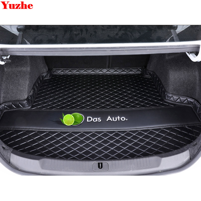 Yuzhe Custom car trunk mat For vw volkswagen Passat B5 Golf 4 5 6 Polo Cargo Liner Interior Accessories Carpet car styling custom cargo liner car trunk mat carpet interior leather mats pad car styling for dodge journey jc fiat freemont 2009 2017