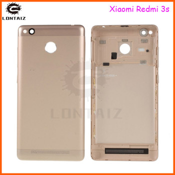 redmi 3s back cover For Xiaomi Redmi 3S Battery Cover Back Housing Full Back Cover Door Rear Case Replacement Repair joliwow for xiaomi redmi 5 battery back cover rear housing metal door camera glass lens repair spare parts