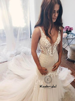 Amazing New Lace Tulle Wedding Dresses Sexy Backless 2019 Memraid Bride Wedding Gowns