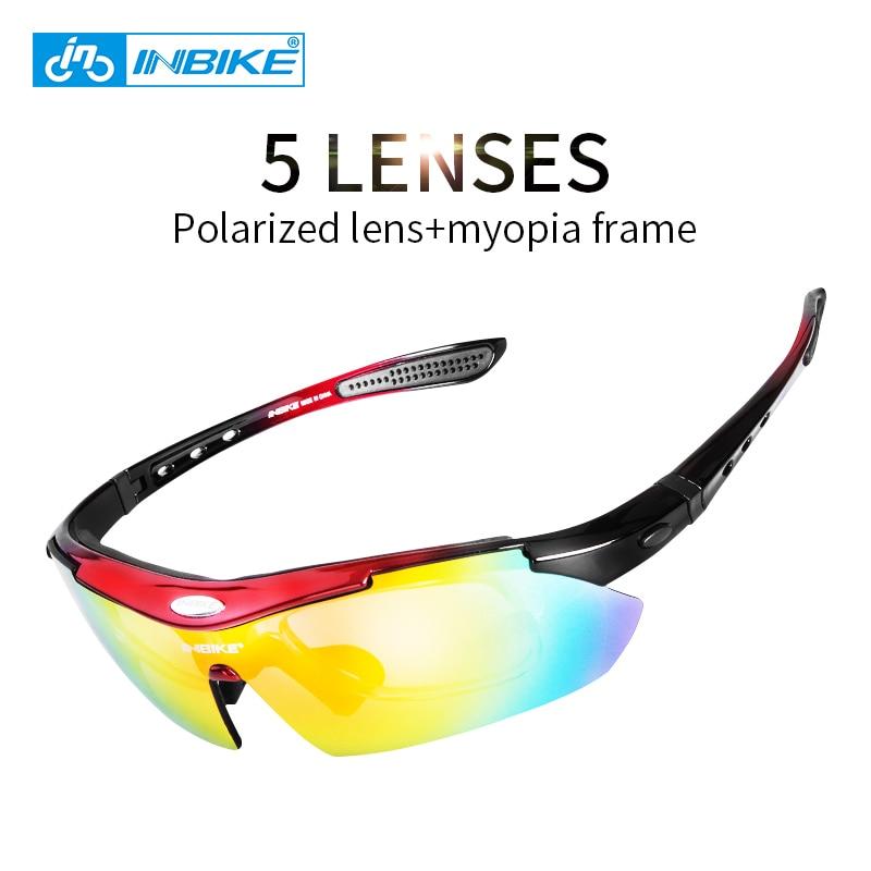 Prix pour INBIKE Cyclisme Lunettes UV Preuve Polarisées 5 Lentille 3 Couleurs Cadre lunettes de Soleil Vélo Vélo Lunettes Lunettes Lunettes 619