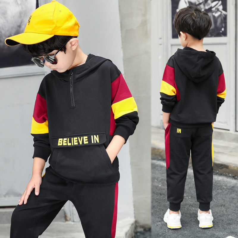 Clothes Set For Boys 4 5 6 7 8 9 10 11 Years 2018 Teenager Children Clothing Long Sleeve Hooded Sweatshirt + Pant 2pcs Tracksuit baby boys clothes toddler kid long sleeve dinosaur hooded sweatshirt top long pant sportswear outfit 2pcs kids clothing sets