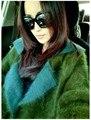 Новый Бесплатная доставка женщин с длинным норки кашемира пальто новый kintted подлинной норки свитер кардиган двойной слой куница бархат траншеи