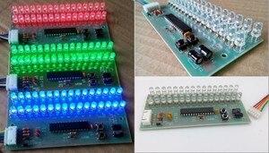 Image 1 - RGB اللون MCU قابل للتعديل عرض نمط LED VU متر مؤشر مستوى 16 LED ثنائي القناة شحن مجاني