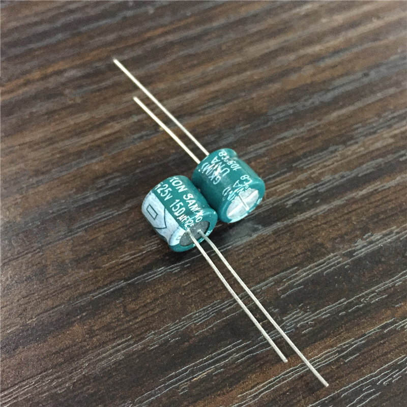10pcs 150uF 25V SAMXON GK Series 8x7mm Low Impedance High Ripple Current Aluminum Electrolytic Capacitor