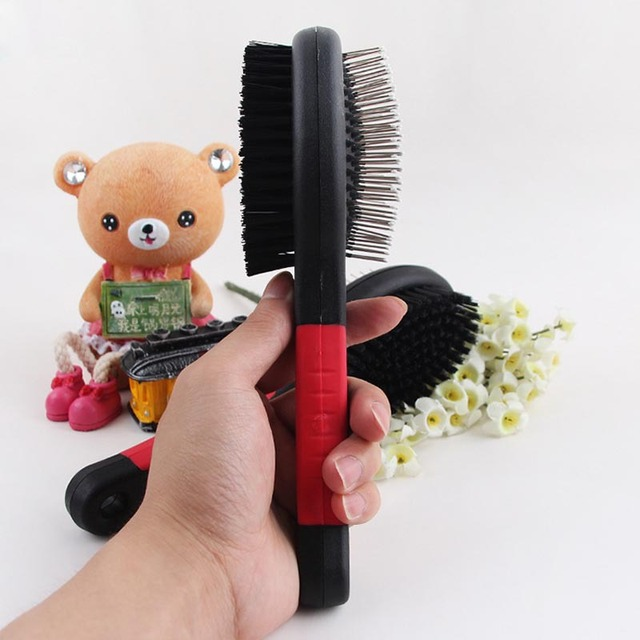 Double Faced Cat Comb Long Hair Brush 3