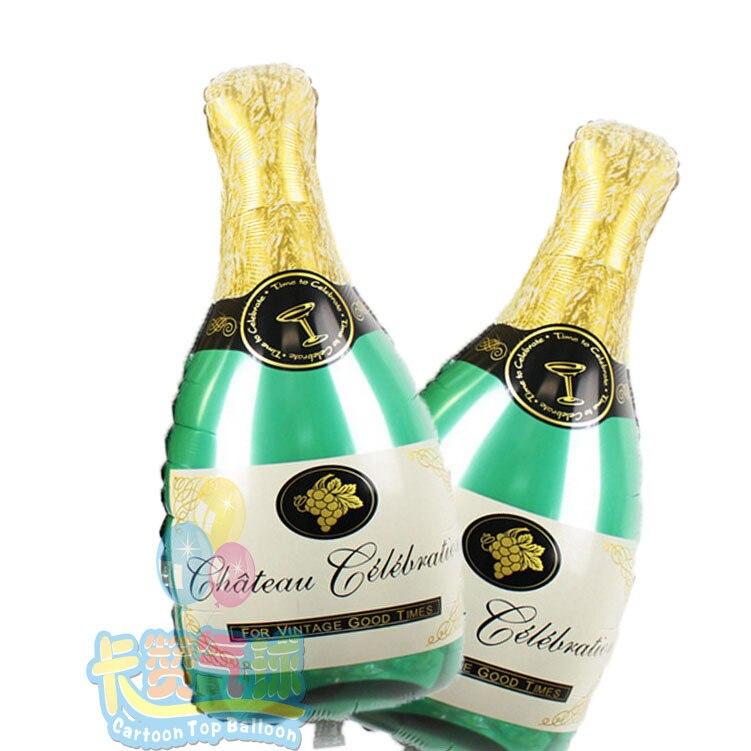 nuevo unidslote champagne gran botella de vidrio de aluminio suministros fiesta de