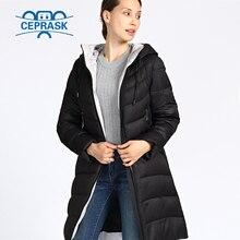 Новинка 2020 куртка женская Зимняя Толщиной Большой Размеры длинная с капюшоном модные теплые Пальто женское высокого качества биологическая Пух Пуховик женский Парка 6XL 5XL верхняя одежда для женщин Ceprask