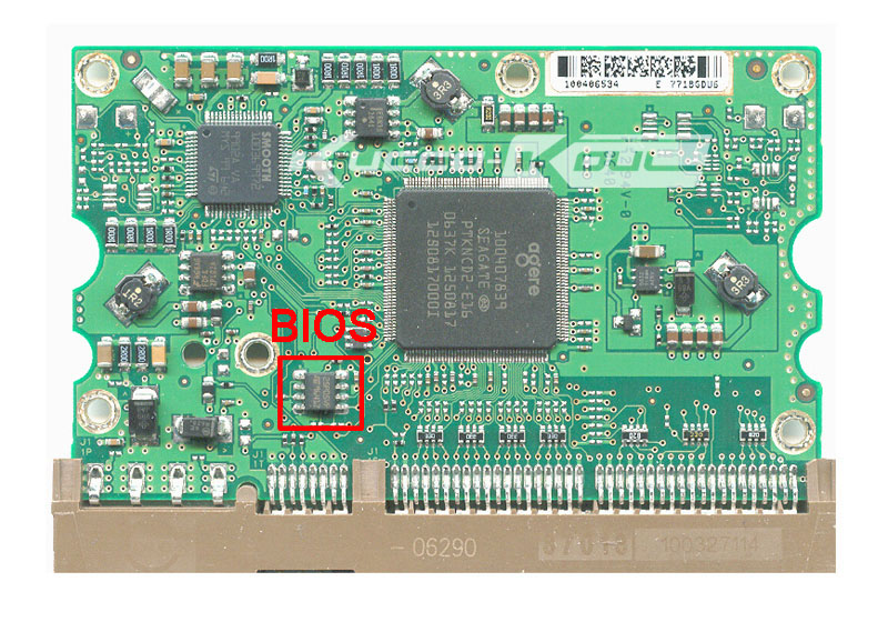 hard drive parts PCB logic board printed circuit board 100406538 for Seagate 3.5 IDE/PATA hdd data recovery hard drive repair