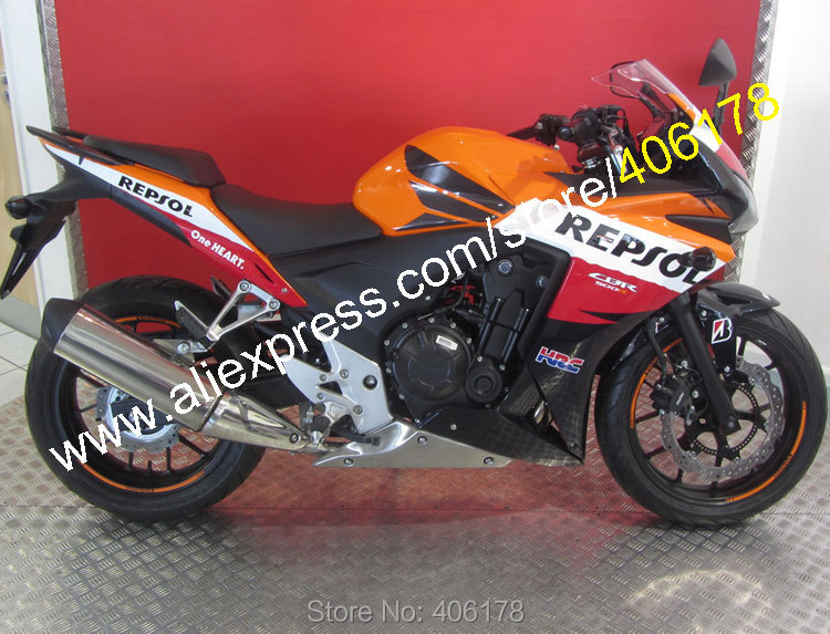 Hot Sales,For Honda Parts 2013 2014 CBR500R CBR 500 R 13 14 CBR500 RR Repsol Aftermarket Motorcycle Fairing (Injection molding) hot sales bodykits for honda cbr500r fairings 2013 2014 cbr 500 r 13 14 cbr500 rr abs motorcycle fairing injection molding