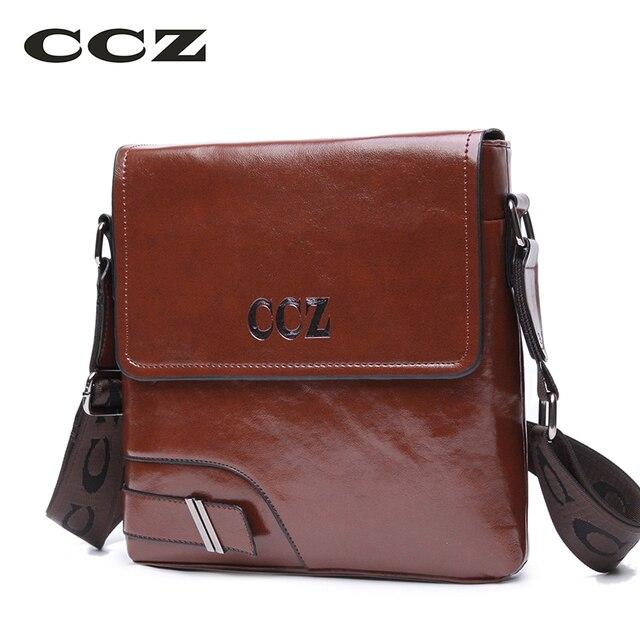 c76b4bb671d CCZ Mannen Crossbody Bag Bedrijfsaktentas Voor Mannen PU Lederen Flap  Tassen Ipad Tablet Tassen Heren Schoudertas