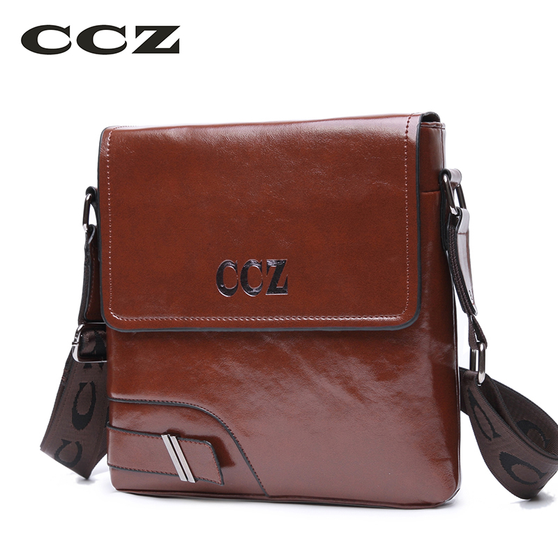 CCZ Men Crossbody Bag Business Briefcase For Men PU Leather Flap Bags Ipad Tablet Bags Mens Shoulder Bag Versipack SL8005