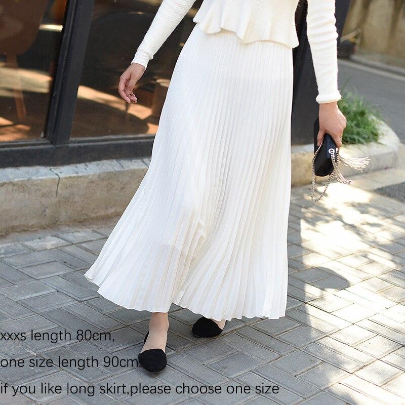Sherhure 2019 Spring Women Skirt Vintage Long Pleated Skirt Saias Top Brand High Waist Women Maxi Skirt Saia Longa Falda Jupe