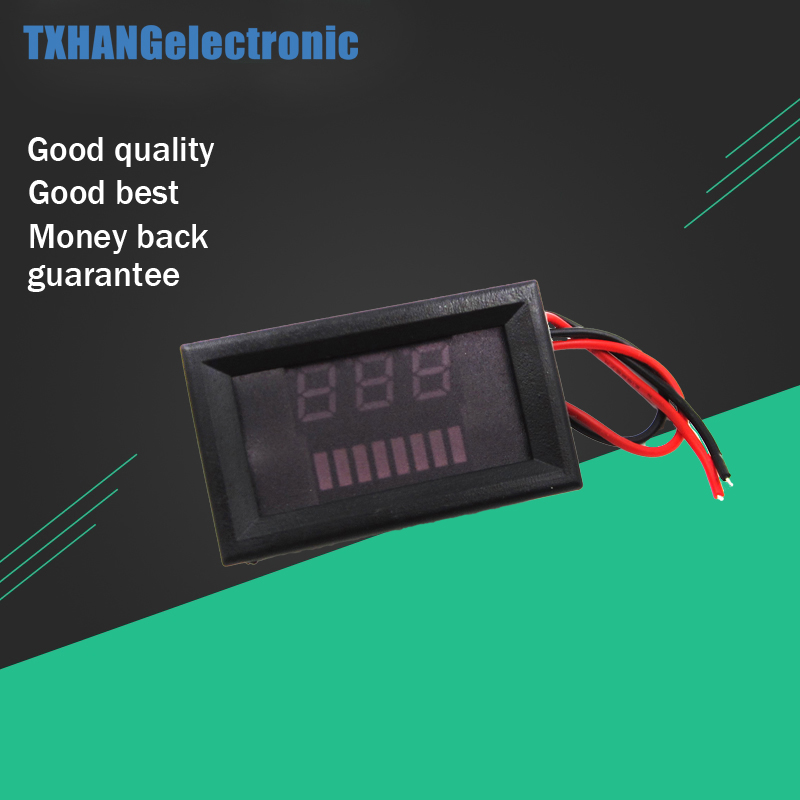 12V Lead-Acid <font><b>Battery</b></font> Power Capacity LED Indicator Digital Voltmeter <font><b>Tester</b></font> <font><b>Voltage</b></font> Meters Electrical Instruments