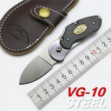 Japan VG-10 Blade  Carbon Fiber + Steel Handle MOKI Folding Knife Survival Knife Pocket Tactical Knives Camping Outdoor EDC Tool
