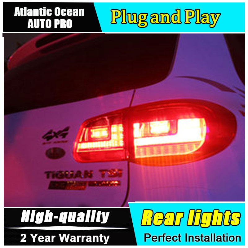 JGRT Car Styling for VW Tiguan Taillights 2010-2012 Tiguan LED Tail Lamp Rear Lamp LED Fog Light For 1Pair ,4PCS 2 pcs for vw tiguan 5 pcs of light 2010 2012 daytime running lights fog head lamp car styling white daylight waterproof