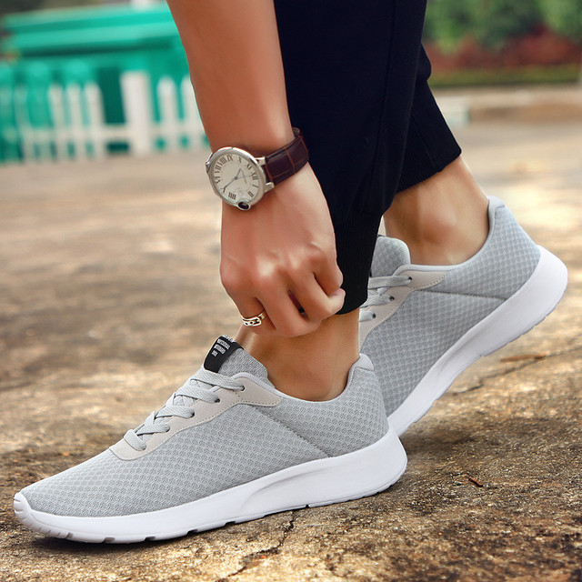 2019 New Men Casual Shoes Lace up Men Shoes Lightweight Comfortable Breathable Walking Sneakers Tenis Feminino Zapatos