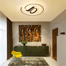JAXLONG Nordic LED Ceiling Lamp Living Room Simple Home Decor Ceiling Lights Bedroom Romantic Lighting Clear Kitchen Light цена