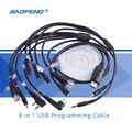 8 en 1 cable de programación usb para la radio cb walkie talkie para uv-5rbf-888s para kenwood baofeng para motorola radio accesorios