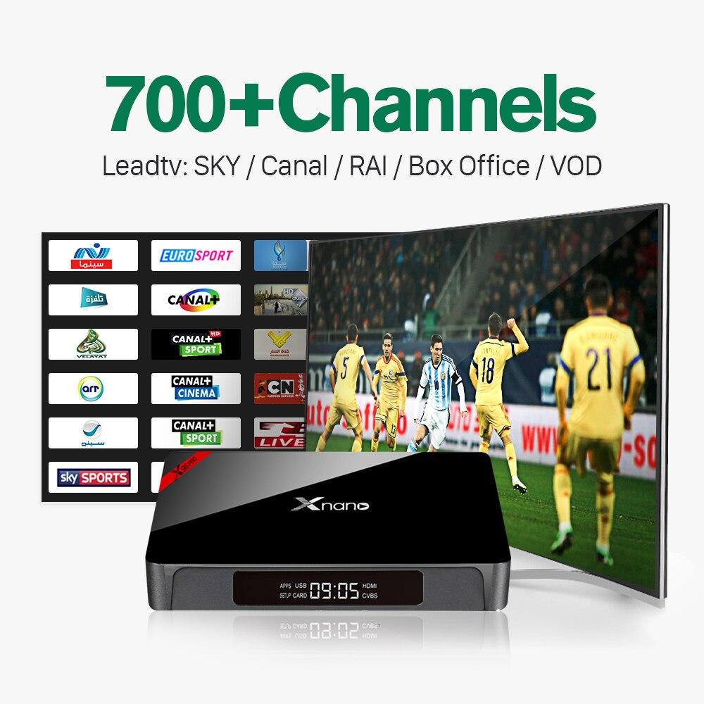 ФОТО Xnano Android 6.0 TV Box Amlogic S905X Quad Core WIFI 4K Smart Media Player Set top Box with 1000 IPTV Arabic Europe Service