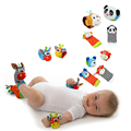 New Design Sozzy Baby Boys Girls Toy Baby Rattle Animal Foot Finder Socks Wrist Strap Soft Children Infant Newborn Plush Sock