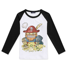 2019 New Children T Shirts Boys Long Sleeve Tshirt Funny Pirate Printed Girls t-Shirt O Neck Cotton Fashion Hipster Child Tees 2019 new arrival kids t shirts for boys cotton fashion short sleeve funny t shirt siberian husky printed tees child brand tshirt