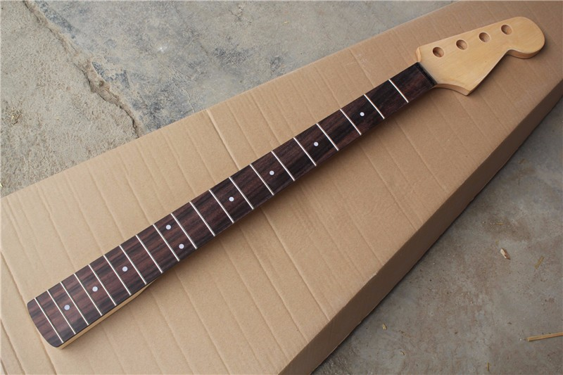 Factory hot sale 20 frets rosewood fretsboard 4 strings bass guitar neck,can be customized free shipping 9157 top quality black color 4 bass electric guitar strings 2018 china low hot guitar factory sale free shipping