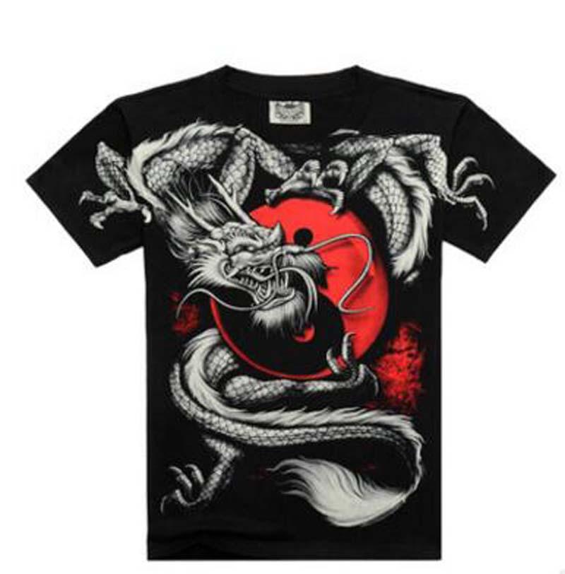 Nieuwe T-shirts Cool 2016 Fashion heren Katoenen Mouw 3D Gedrukt - Herenkleding - Foto 3