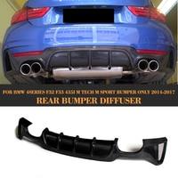 4 Series For F32 F33 Carbon Fiber Car Rear bumper lip diffuser for BMW F32 F33 M Sport Bumper Only 14 17 435i 420i Four Outlet