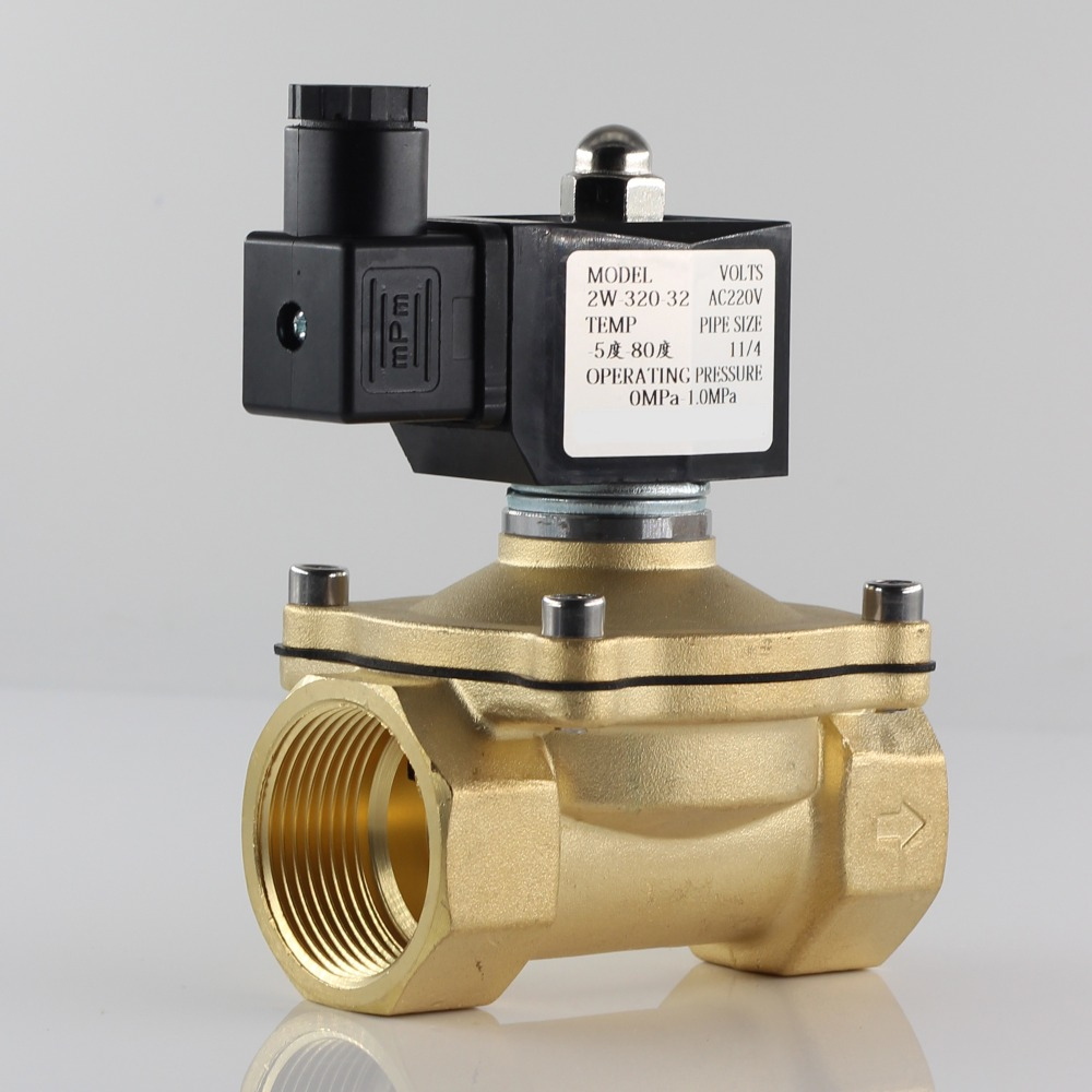 "Normally Closed Solenoid Valve Water Valve, IP65 Fully Enclosed Coil, AC220V DC12V DC24V, G3/8"" G1/2"" G3/4"" G1"" G1-1/4"" G1-1/2""(China)"