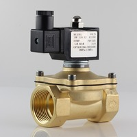 Normally closed solenoid valve water valve, IP65 fully enclosed coil, AC220V DC12V DC24V, G3/8 G1/2 G3/4 G1 G1 1/4 G1 1/2