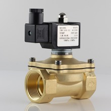 Normally closed solenoid valve water valve, IP65 fully enclosed coil, AC220V DC12V DC24V, G3/8 G1/2 G3/4 G1 G1-1/4 G1-1/2