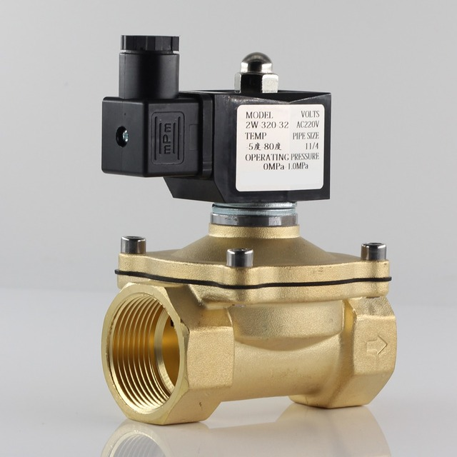 """Normally closed solenoid valve water valve, IP65 fully enclosed coil, AC220V DC12V DC24V, G3/8"""" G1/2"""" G3/4"""" G1"""" G1 1/4"""" G1 1/2"""""""