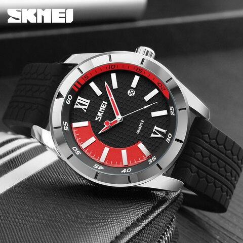 Mens Watches SKMEI Brand Luxury Casual Men Waterproof Quartz Sports Wristwatch Silicone Strap Male Clock watch relogio masculino Karachi