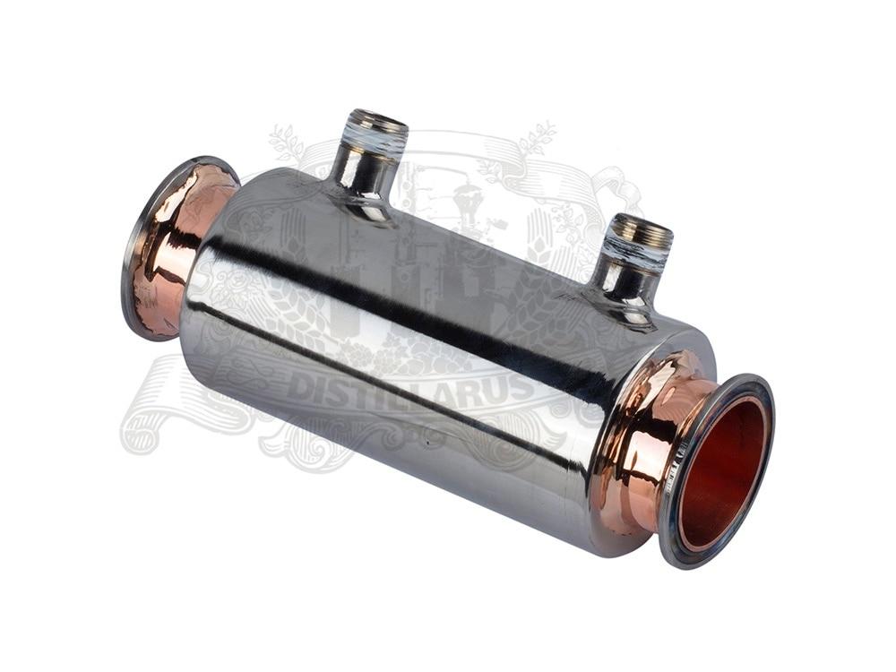NEW 2 Direct flow  Dephlegmator / Reflux Stainless steel 304 with red copper inside , tri-clamp connection OD64 фильтр для воды kristal filter diamond direct flow 400