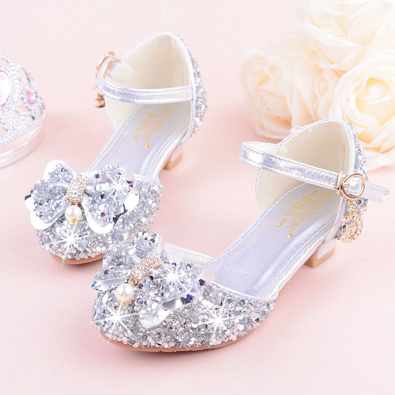 KEYITODO Girl Sandals 2019 summer new Bow tie Sequined shoes high Heel Princess model performance Rhinestone sandals L142KEYITODO Girl Sandals 2019 summer new Bow tie Sequined shoes high Heel Princess model performance Rhinestone sandals L142