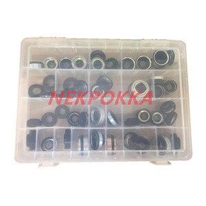 Image 2 - 48 قطعة السيارات تكييف وضاغط للهواء النفط ختم مجموعة ل FS10 7SUB16 MAS90/105 A32 DKS32C 10PA15C/17C HCC V5 رمح ختم