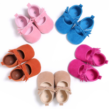 The new Spring Autumn Girl Baby Shoes Cotton Fashion Newborn Baby Girl Shoes Butterfly knot Princess