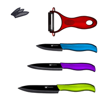 Profesional De Cerámica Cuchillos XYJ Marca 3, 4, 5 Pulgadas Cuchillo + Peeler Cuchillos de Cocina de Cuatro Piezas Conjunto De Cerámica de Cocina Cuchillos Ventas Calientes